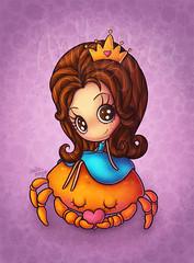 genesis tattoo (Anita Mejia) Tags: tattoo illustration princess cancer crown genesis rifa ilustracion tatuaje cangrejo chocolatita anitameja