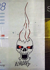 Eckhard (txmx 2) Tags: poster skull graffiti hamburg billboard scrawl edding ignorethetagsonwhitetheyarefromastupidflickrrobot