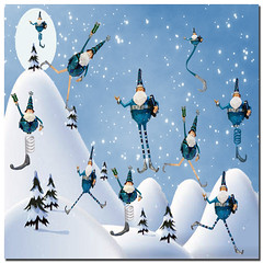 10 Lords A Leaping (Cat Girl 007) Tags: christmas winter holiday square 12daysofchristmas 10lordsaleaping christmasbackgroundbyjpeiro santabluebybrendastarr exploreworthychallenge32snowydays