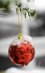 Merry Christmas! (Matthias Kleine Photographie) Tags: christmas schnee winter red snow tree green rot ball weihnachten 50mm god christmastree vanoce sa merry grn jul nol vam bauble natale festas f28  tannenbaum boas shona tanne nollaig kerstfeest joyeux buon vrolijk fallingsnow colorkey afd vesele swiat schneien hyv joulua frhliche wesolych d80 nikond80 prejeme weiseweihnacht dhuit klein0r matthiaskleine winshuyu svyatkami kleinephoto klein0rphotography