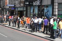 Walk (lazy south's travels) Tags: street city uk england people woman man london station underground britain candid capital tube scene knightsbridge pedestrain