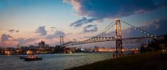Florianópolis (Stefanie Schwarz) Tags: bridge floripa sunset brazil sc brasil island cityscape florianopolis santacatarina