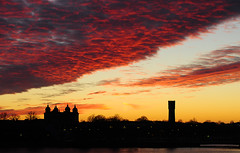 Kalmar sunset (andeisak) Tags: sunset church watertower uppsala kalmar andersisaksson