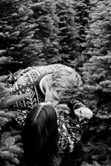(keyana tea) Tags: christmas trees blackandwhite holiday love sweater kiss kissing couple edited maggie explore passion 100 50 intimate kameron explored