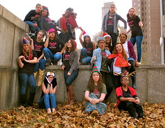 IMG_4637 (AshMarinaccio) Tags: autumn leaves portraits protest brooklynheights girlpower projectgirlperformancecollective