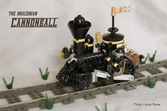 Draconian Cannonball (ted @ndes) Tags: train lego engine steam locomotive steampunk moc