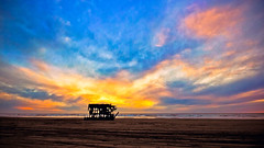 Shipwrecked At Sunset (www.bazpics.com) Tags: ocean light sunset shadow cloud color colour beach nature silhouette skeleton sand ship pacific horizon peter shipwreck remains iredale