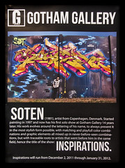 SOTEN Inspirations (GOTHAM GALLERY exhibition) (fonzi74/gbCrates) Tags: street city urban art by copenhagen grit denmark graffiti paint raw gallery graf gritty can exhibition spray graffity gb rough graff gotham cph aerosol danmark ruff christensen emil crates chr spraycan frederik inspirations grimey grimy udstilling soten hyer fonzi74 gbcrates hyerchr sprjtemaling