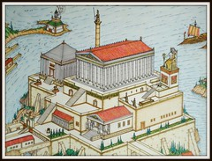 An imaginary Greek acropolis (MAURO CATEB) Tags: illustration drawing acropolis linedrawing colorpencil greektemple indiaink
