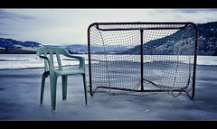 hockey time (blck cse | Will Binks) Tags: winter 2 lake canada ice water beauty zeiss 35mm canon landscape bc time mark sharp will ii 5d kelowna moment binks f24 flektagon