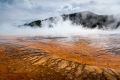 Grand Prismatic Spring (John Cothron) Tags: 5dmarkii 5d2 5dii 5dmkii americanwest canon canoneos5dmkii cothronphotography grandprismaticspring interiorwest johncothron midwaygeyserbasin mountainstates mountainwest northwest thewest us usa unitedstatesofamerica westernregion wyoming yellowstonenationalpark bacteria clearsky cloud hill landscape largest mineral mist nature outdoor outside scenic sky steam summer sunny thermalactivity thermalactivityhotspringssteammineraldepositsvolcanic travel volcanic water img03464110919 ©johncothron2011