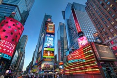 Times Square, Approaching Blue Hour - New York, New York