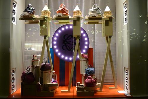 Vitrines Loewe - Paris, décembre 2011