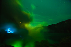 Out of this World (zoomion) Tags: blue brown lake hot toxic yellow night clouds danger sunrise indonesia fire volcano asia smoke acid gas ring fullmoon burn crater caldera sulfur ph gases bluefire banyuwangi