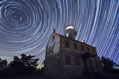 East Point Lighthouse Star Trails / Meteors (Jack Fusco) Tags: longexposure nightphotography newjersey nightscape nj surreal astrophotography jersey startrails meteors polaris northstar starscape mauriceriver january4 eastpointlighthouse jackfusco wwwjackfuscocom quandrantidmeteorshower quandrantid 2012meteors