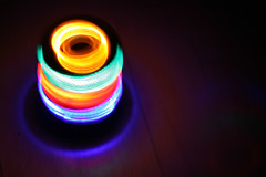 LED Spinning top (Audiotribe) Tags: blue light red green yellow led spinningtop