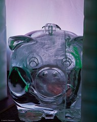 Piggy Bank (katrin glaesmann) Tags: winter cold ice december hamburg exhibition piggybank sparschwein eis ausstellung icecarving eisskulpturen deichtorhallen 2011 icecarver 8c