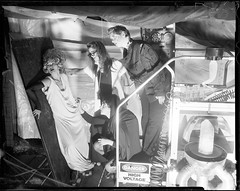 Greensboro Roller Derby - 2012 Calendar: Bride of Frankenstein (mattbellphoto) Tags: blackandwhite bw film 4x5 horrormovie pyro fp4 largeformat brideoffrankenstein calumet viewcamera pmk ilfrod 2012calendar 135mmf47 greensbororollerderby minimumbruise schoolyachilds eastpoundherdown elliemaecrammit