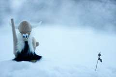 Lost viking (**Alice**) Tags: winter snow doll bokeh viking zpad iarn