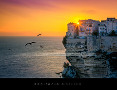 Bonifacio, Corsica (Beboy_photographies) Tags: sunset france de soleil village corse corsica coucher falaise hdr coucherdesoleil bonifacio
