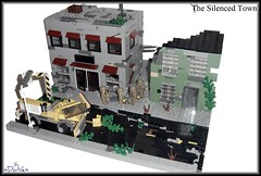 Lego Apoc -The Silenced Town- (=DoNe=) Tags: by buildings viktor town lego apocalypse scene homemade done decals diorama s brickarms legoapoc legouli legoapocthesilencedtown