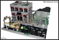 Lego Apoc -The Silenced Town- (=DoNe=) Tags: by buildings viktor town lego apocalypse scene homemade done decals diorama s brickarms legoapoc legouli legoapocthesilencedtown
