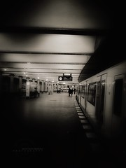 Subway station (MOSTAFA HAMAD | PHOTOGRAPHY) Tags: pictures camera sky italy black art love station canon germany subway photography is europa alone fotografie photographie iraq 110 ixus fotografia hamad  mostafa fotografa fotografering  iaq fotoraflk