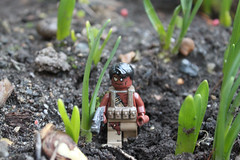 Tribal soldier- jungle (Th) Tags: leaves modern soldier war lego mud fig zombie pirates rifle apocalypse carribean mini tribal assault camouflage pistol minifig minifigs custom combat gears tactical apocalego shobrick vhmh