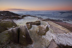 Frosty Morning (andy_AHG) Tags: winter rural sunrise outdoors rocks frost peakdistrict scenic moors pennines britishcountryside northernengland landscapephotography beautifullandscapes baslowedge