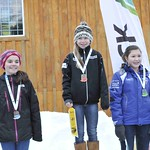 Mt. Washington Teck K1 GS, January 2012 - Mollie Jepson (WMSC) on top podium step for the first time! PHOTO CREDIT: Dickson Wong