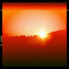 sunset (#mr. X) Tags: barcelona sunset window beauty skyline evening spain colorful rooftops sundown dusk lensflare mobilephone dreamy catalunya sunsetting sunsetthroughthewindow htcdesire jeffmathews photobyjeffmathews jeffmbcntumblrcom