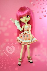 Alysse ~ Day 4 (Nickocha) Tags: pink house rabbit outfit shoes hand heart made cupcake onion sweety lullaby coolcat kirsche alysse obitsu moeka nickocha
