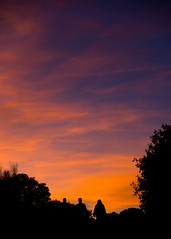 Walking on sunset (Akirarai) Tags: sunset shadow red sky orange mountain nature field backlight clouds nikon sigma f28 50150mm lasmatas dk7 d7000