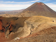 Red Crater and Mt Ngauruhoe, Summer. (blue polaris) Tags: park new travel newzealand summer landscape island volcano scenery mt crossing earth plateau north central lord lotr rings zealand alpine national crater nz doom tongarironationalpark northisland middle tongariro volcanic ngauruhoe mordor ruaphehu centralvolcanicplateau