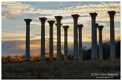 Sunset with a silhouette of the National Capitol Columns (John Baggaley) Tags: winter sunset silhouette architecture landscape washington nikon outdoor government nationalarboretum d90 afsnikkor2470mmf28ged afszoomnikkor2470mmf28ged