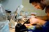 20 January, 12.37 (Ti.mo) Tags: uk england people london andy berg studio iso100 working workshop soldering 75mm 0ev ¹⁄₁₆₀secatf18 berglondon e50mmf18oss