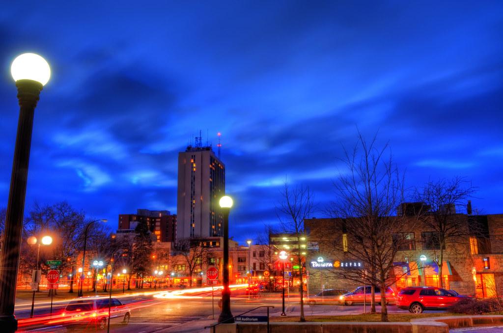 Ann Arbor at dusk