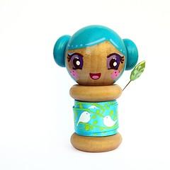 been down for so long... (boxsquare.) Tags: wood cute love birds japanese miniature diy wooden aqua doll handmade crafts kawaii ribbon spool mqsquare
