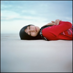 -0000 (hey.poggy) Tags: portrait tlr beach colors beauty sand emotion empty islam hijab naturallight sleepy squareformat soul malaysia ph terengganu mamiyac220 filmisnotdead kodakektacolorpro160 poggyhuggies mrhuggies miralai