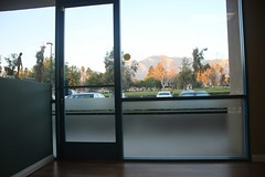 View from the waiting room