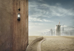 Between the present and the past (suliman almawash) Tags: art digital photoshop kuwait suliman        almawash blinkagain