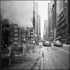 Street Scree (Warriorwriter) Tags: street nyc winter snow newyork film mediumformat photowalk manualfocus emulsion mamiya6451000s kodakektar100 stynycjan12