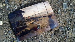 Discarded Beach Memories (Joe Shlabotnik) Tags: cameraphone beach photo photograph 2012 droid2 january2012