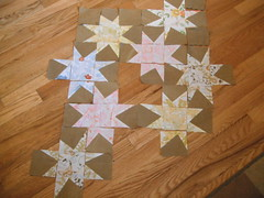 Sparkle Punch Stars (Christie, Describe Happy) Tags: vintage star quilt sparkle flannel sheet