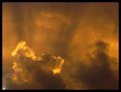 crepuscular rays -   (moshek70) Tags: winter sunset sky weather clouds sunrise israel jerusalem   crepuscularrays          canonpowershotsx30is