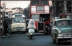 London transport RT863  Whitehall 1960's. (Ledlon89) Tags: bus london cars coach transport scooter lt traffice 1060s londonbus aecregent alltypesoftransport samuelsonscoaches