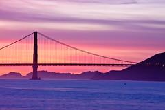 Golden Gate Sunset (Jeremy Duguid) Tags: california travel bridge pink sunset colors canon landscape golden bay gate san francisco purple dusk jeremy duguid 50d supershot jeremyduguid