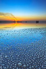 Sea Bubbles (A.alFoudry) Tags: blue winter sunset orange reflection canon boats eos boat dusk mark smoke tide low bubbles full filter 09 lee frame nd bubble 5d lowtide kuwait fullframe ef kuwaiti density q8 neutral abdullah mark2 1635mm   || f28l kuw q80 q8city xnuzha alfoudry  abdullahalfoudry foudryphotocom mark|| 5d|| canoneos5d|| mk|| canoneos5dmark|| canonef1635mmf28l|| foudryphcom
