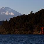 fujisan, hakone jinja & ashinoko /  富士山と箱根神社と芦ノ湖