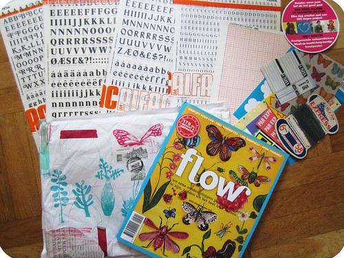 Papers, a magazine + rubb-on letters